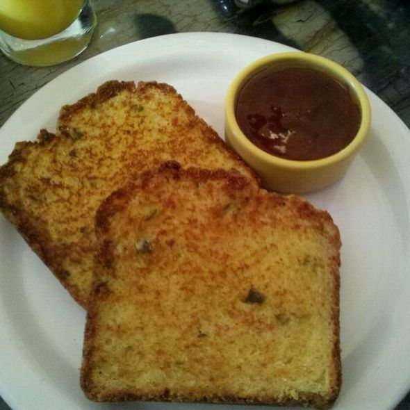 Grilled Chili Cheddar Cornbread @ Dottie's True Blue Cafe