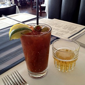 Bloody Mary With Beer Chaser - Harbor House, Milwaukee, WI