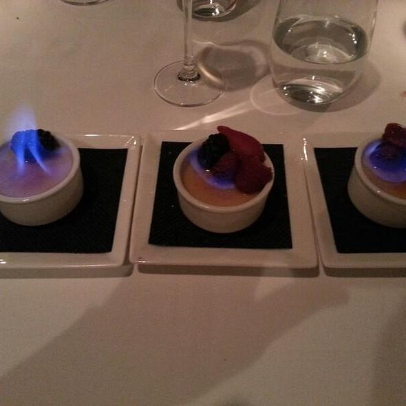 Grand Marnier Creme Brulee Trio @ La Tour Restaurant