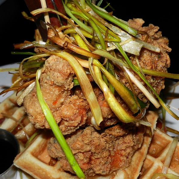Andy's Sage Fried Chicken & Bacon Waffle Tower