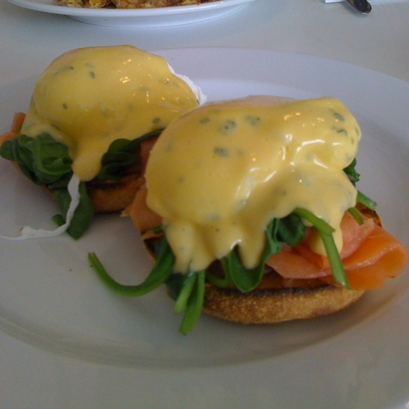 Eggs Benedict with Smoked Salmon @ Sideways Deli Cafe Dulwich Hill