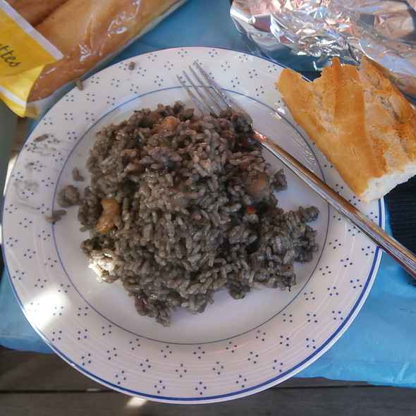 Seafood and fish black rice @ Ana Maria's