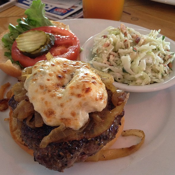 Blue Cheese And Grilled Onion Burger @ Poe's Tavern