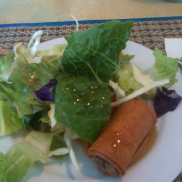 Spring roll and salad for two. @ George's Thai Bistro