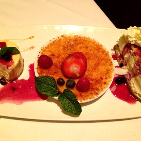 Chefs Dessert Plate - Fleming's Steakhouse - Beverly Hills