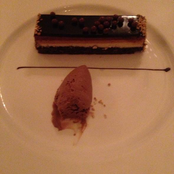 Three Chocolate Cake With Chocolate Ice Cream