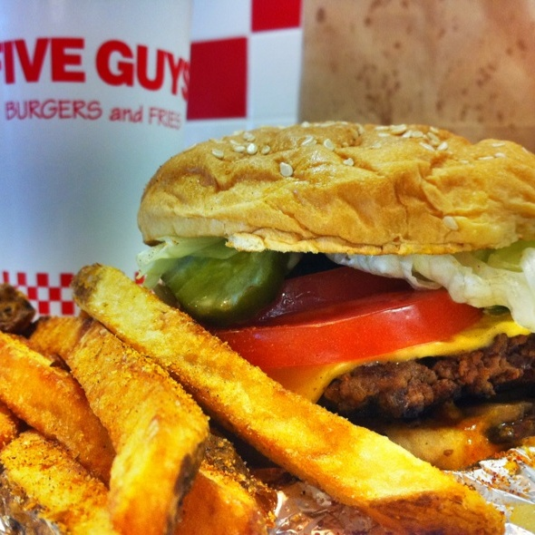 Cheese Burger @ Five Guys Burgers & Fries