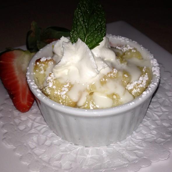 Vanilla Raspberry Bread Pudding - LeVilla Restaurant, Calgary, AB