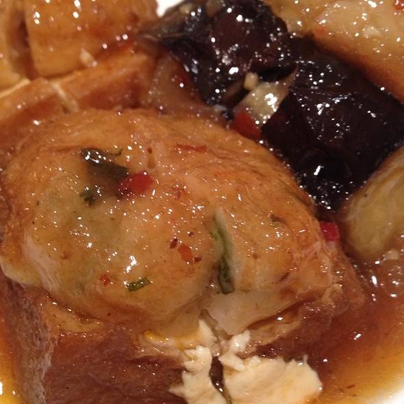 Braised Eggplant & Tofu With Chili & Garlic Sauce In Casserole at Iro...