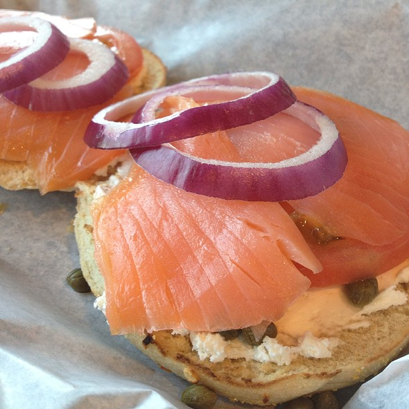 Lox Bagel @ Einstein Bros Bagels