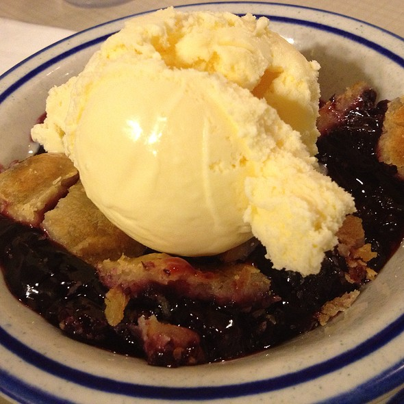 Blackberry Cobbler @ First Street Family Restaurant