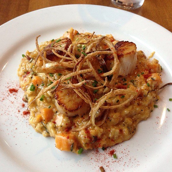 Butternut Squash Risotto With Scallops