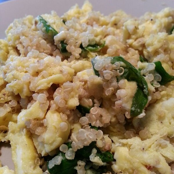 Scrambled Eggs, Quinoa, Lettuce  @ Chez Mother P