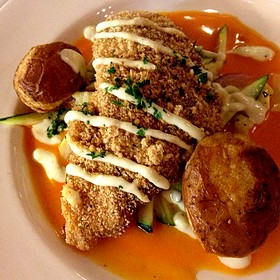 Andouille Crusted Fish