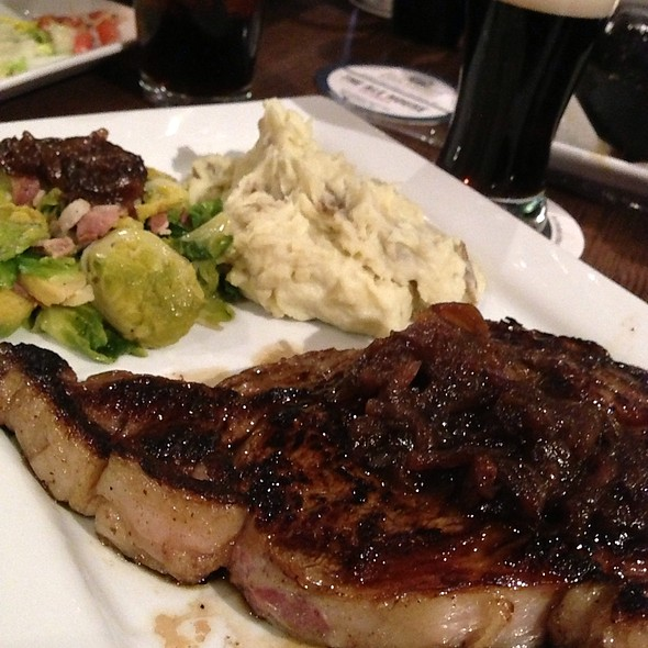 12Oz Ribeye With Garlic Mashed Potatos And Brussels Sprouts - The Alehouse Columbia, Columbia, MD