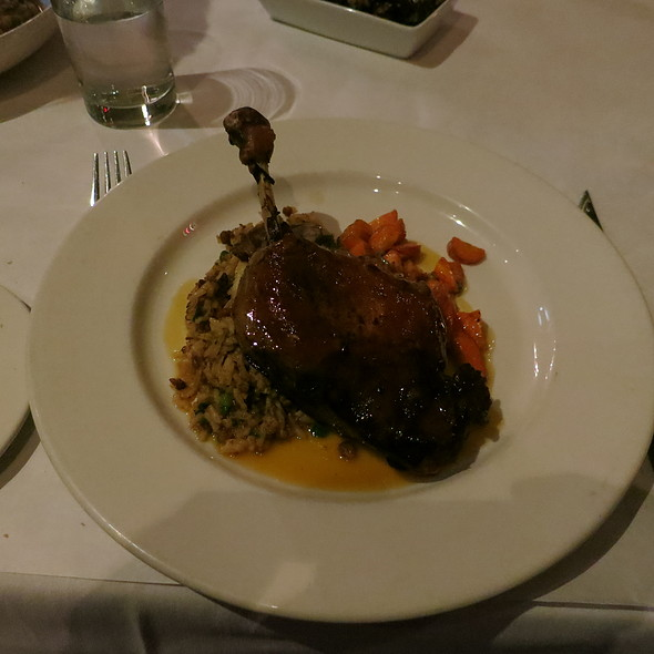 Muscovy Duck Leg Confit with Dirty Rice and Citrus Gastrique @ Herbsaint