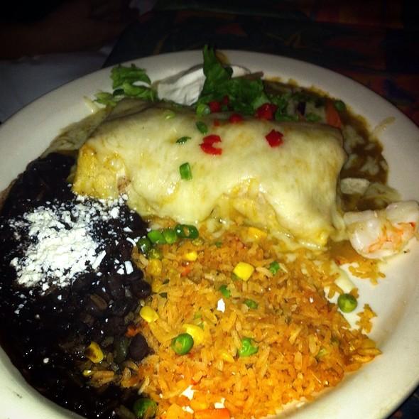 Chile Verde Burrito - Blue Coyote Bar & Grill, Palm Springs, CA