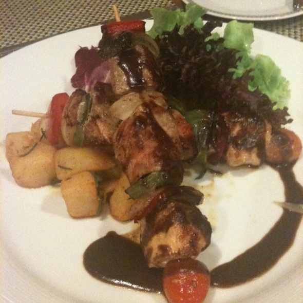Grilled Mixed Meat Skewer @  Rembrandt Hotel