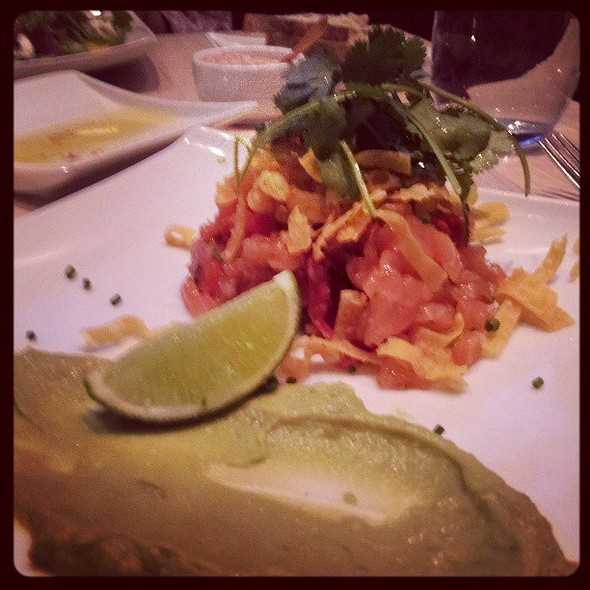 Salmon Tartar - so fresh tasting @ Cowell & Hubbard