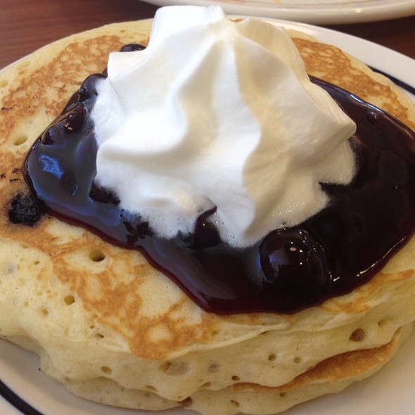 Blueberry Pancakes With Cheese Eggs And Bacon @ Ihop