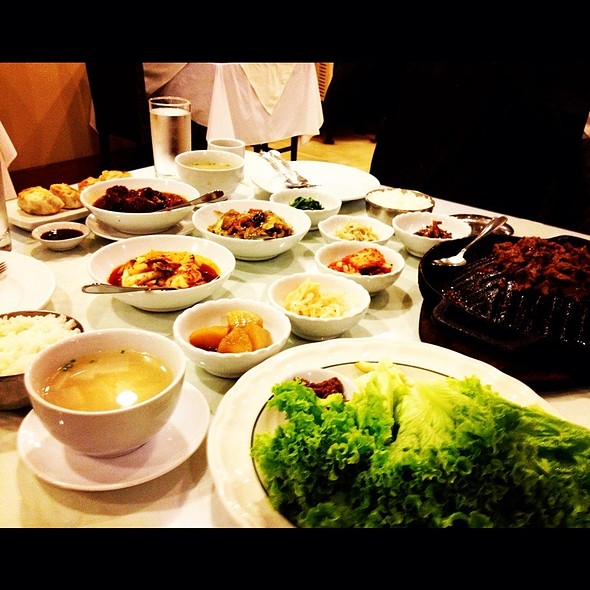 Assorted Korean Side Dishes @ Korea Garden