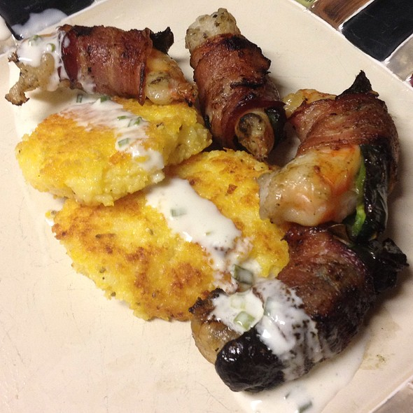Poblano And Bacon Wrapped Shrimp