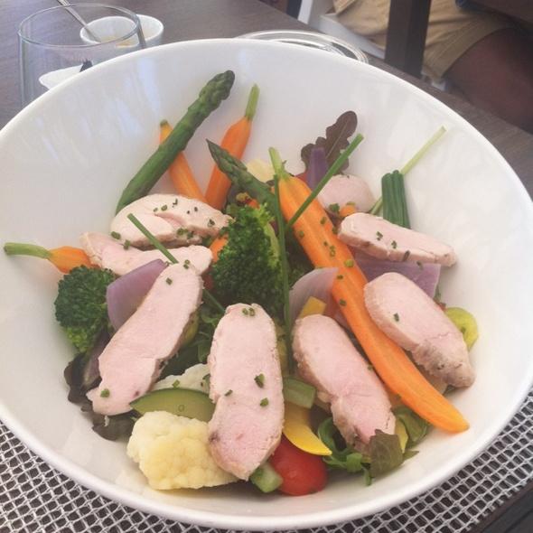 Chicken breast with vegetables @ Eden Rock Hotel