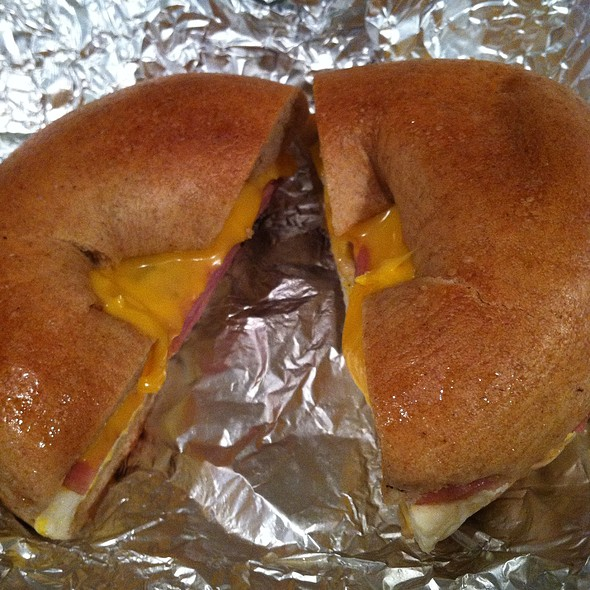 Ham Egg And Cheese On Wheat Bagel