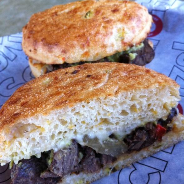Guacamole And Red Pepper Ribeye Sandwich