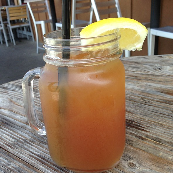 Iced Tea with Peach Puree - Solace & The Moonlight Lounge, Encinitas, CA