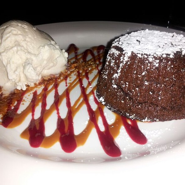 Warm Flourless Chocolate Cake With Malt Ice Cream @ Extra Virgin