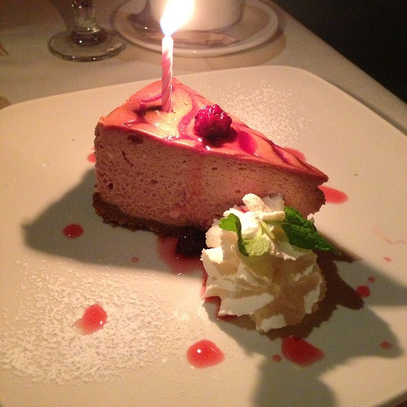 Raspberry Cheesecake - West Steak and Seafood, Carlsbad, CA