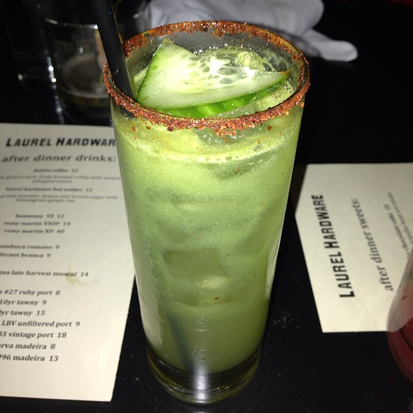 Shiso Cucumber Infusion Cocktail - Laurel Hardware, West Hollywood, CA