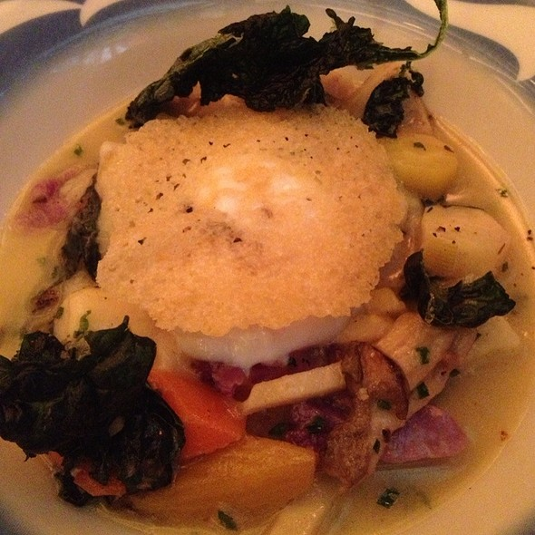 Vegetable Fricassee With Truffle And Poached Egg - COMMERCE, New York, NY