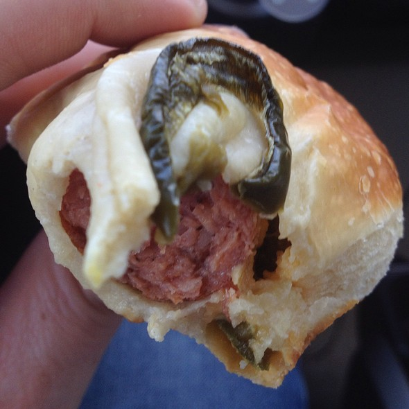 Sausage, Jalapeño, And Cheese Kolache @ Buc-ee's Crabb River