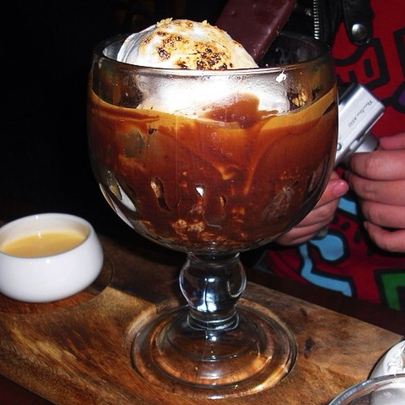 The Spectacular Melting Chocolate S'mores Sundae @ Max Brenner
