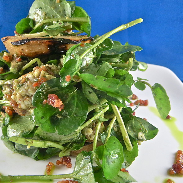 Grilled pear and watercress salad - Pelagia Trattoria, Tampa, FL