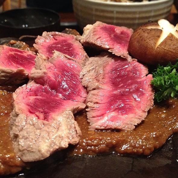 Beef Tenderloin On Houba Leaf @ Waraku