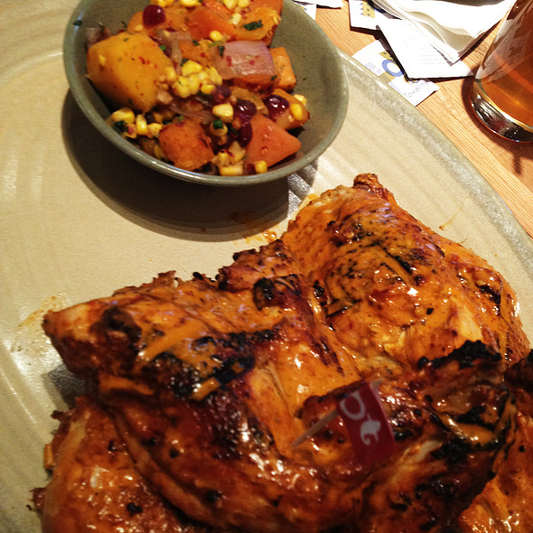 Whole Chicken Platter with Butternut Squash and Grilled Corn Side @ Nando's Peri Peri (Baltimore)