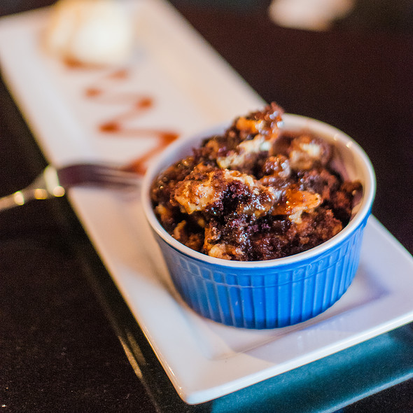 Chocolate Peanut Butter Banana Whiskey Bread Pudding @ Formoli's Restaurant