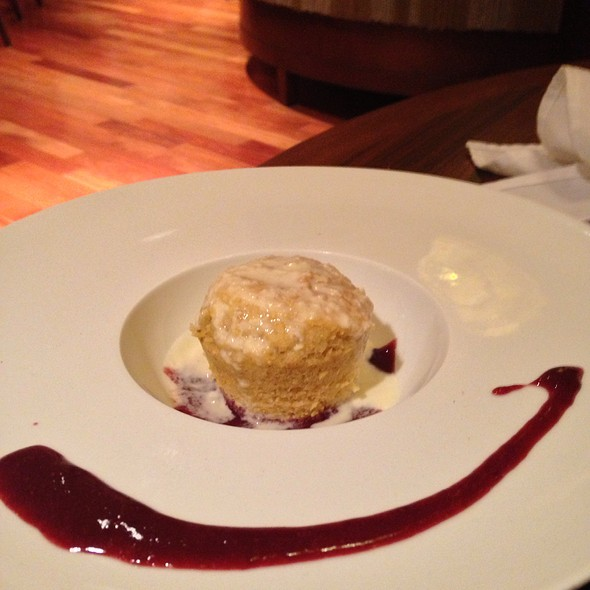 Corn Bread With Goat Cheese And Raspberry Gastrique - AMP 150, Cleveland, OH