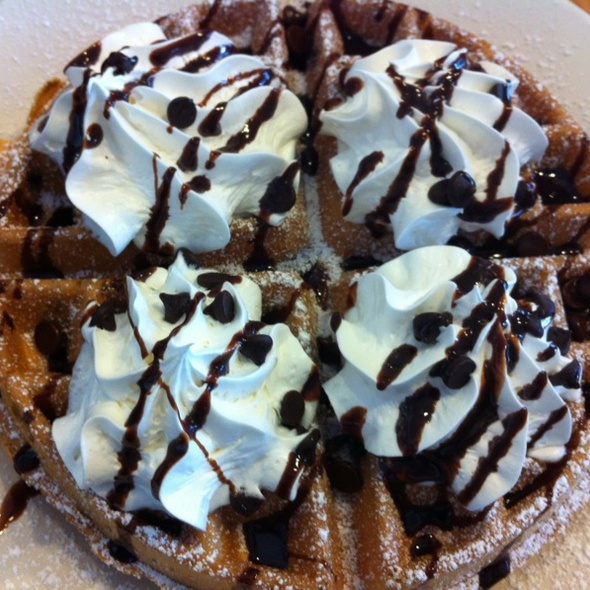 Chocolate Chip Waffles @ Flappy Jack's