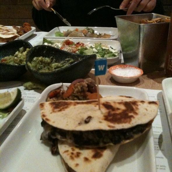 Black bean and cheese quesadilla @ Wahaca