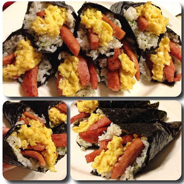 Spam And Eggs Hand Rolls @ Made By Marf