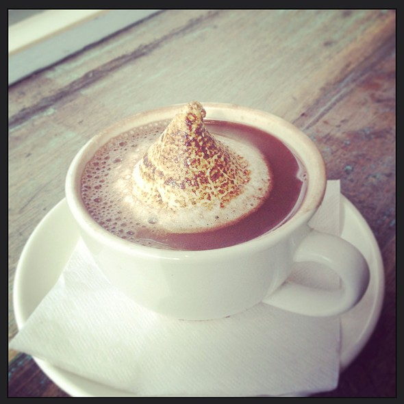 Hot Chocolate With Flame Torched Marshmallow @ Bobbette & Belle