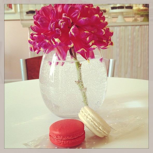 Red Velvet & Earl Grey Macaron @ The Wedding Cake Shoppe