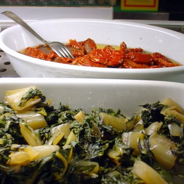 Sun Dried Tomatoes in Olive Oil and Swiss Chard @ La Bomba