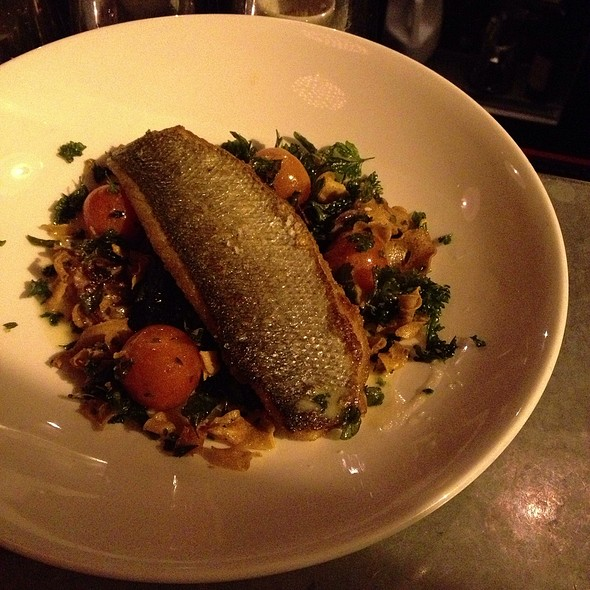 Branzino With Squid Ink Rissotto