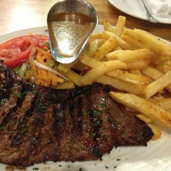 Fillet Pepper Steak With Fries @ Kaldis Coffee House