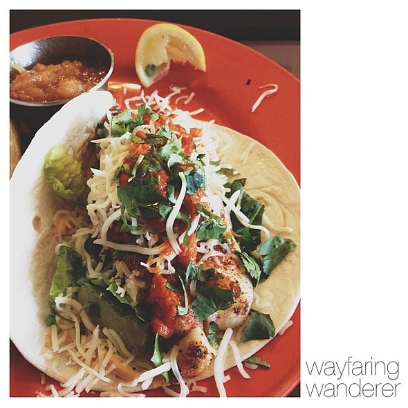 Finally got my fish taco fix! Boy, were they delicious! Had these at Coyote Kitchen here in Boone, NC. @ Coyote Kitchen